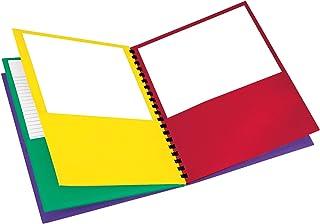 """Oxford 8 口袋纸张文件夹,字母尺寸,200 张容量,多种颜色,红色,*,黄色,紫色 (99656),多功能,8-1/2"""" x 11"""""""