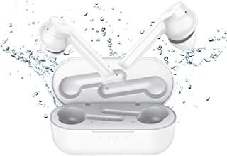 蓝牙 5.0 [*] TWS REDBEAN 真正的无线耳塞带充电盒 IPX5 防水耳机入耳式麦克风 24 小时播放时间触摸控制语音辅助锻炼运动健身房(纯白色)