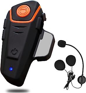 Erivis 摩托车蓝牙耳机 对讲 头盔通信系统 *多 3 名骑士 防水 1000M 无线头盔扬声器(单件装)