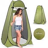 弹出式私密帐篷 – 即时便携式户外淋浴帐篷、露营厕所、更换房间、带窗户的雨棚 – 适合露营和海滩 – 易于设置,可折叠带…