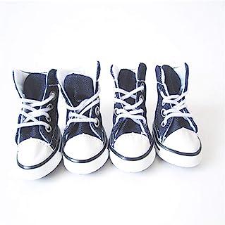 CHDHALTD 宠物狗帆布运动鞋防滑狗鞋,户外宠物靴运动鞋狗鞋靴运动防滑爪保护器(1)