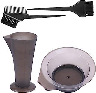 Lurrose 4 件套*套装,*刷和碗套装,带量杯,适用于 DIY 沙龙和家庭使用