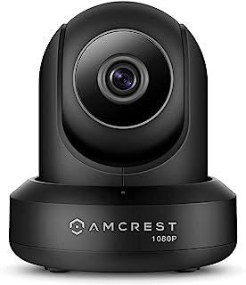 Amcrest ProHD 1080P WiFi 摄像机 2MP (1920TVL) 室内平移/倾斜*无线网络摄像机 IP2M-841B(黑色)