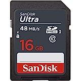 SanDisk 闪迪 Ultra 16 GB SDHC Class 10存储卡,读取速度可达48 Mbps-黑色
