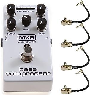 MXR M87 低音压缩器效果踏板束带 4 个 MXR 直角插线缆