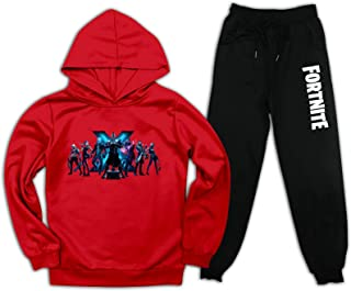 时尚连帽衫和运动裤休闲 2 件套服装儿童运动服套装儿童运动衫适合女孩男孩小号