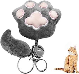 可爱坐垫,猫爪形状懒人沙发办公坐垫,熊爪办公椅靠垫,办公室舒适温暖座枕,毛绒沙发垫家居装饰(钥匙扣)