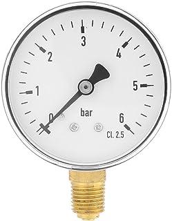 Yosoo Health Gear 空气压力计,压力计,液压压力计,压力测量工具带 1/4 英寸(约 0.6 厘米)NPT 螺纹连接和 6 厘米刻度盘,适合压力测量