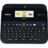 Brother 兄弟 P-touch 标签打印机,可连接PC,PTD600,彩色显示器,高分辨率PC打印,黑色,黑色/灰…