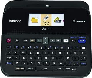 Brother 兄弟 P-touch 标签打印机,可连接PC,PTD600,彩色显示器,高分辨率PC打印,黑色,黑色/灰色 需配变压器