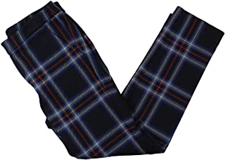 LAUREN RALPH LAUREN 女式 Adom 短款格子直筒裤*蓝 XXL 码