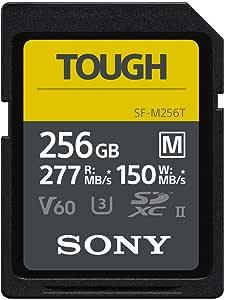 Sony 索尼 256GB SF-M 系列 TOUGH 规格 UHS-II U3 V60 SDHXC 数字存储卡 - 读取 277MB/s 写入 150MB/s SFM256T
