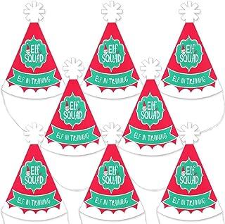 Big Dot of Happiness Elf Squad - 迷你锥形儿童圣诞节和生日派对帽子 - 小小码派对帽子 - 8 件套