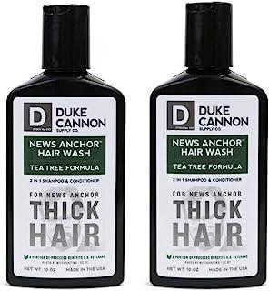 Duke Cannon News Anchor 厚重洗发水二合一男士洗发水和护发素,283.50 毫升(2 件装) 茶树