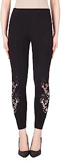 Joseph Ribkoff 丝滑针织蕾丝镂空紧身裤款式 184111