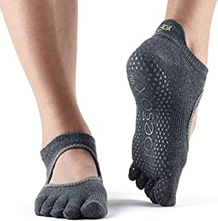 Toesox 女式 Toesox Grip Pilates Barre 袜子 – 防滑 Bellarina 半趾适用于瑜伽和芭蕾舞袜