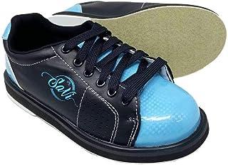 SaVi 保龄球产品女式经典浅蓝色/黑色保龄球鞋_女士系带/通用鞋底,适用于右手或左手手手从初学者到专业人士。