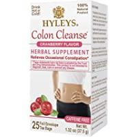 Hleys Wellness Colon 清洁蔓越莓-25 个茶包(不含咖啡因、转基因、无麸质、无乳制品、无糖和 100…