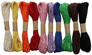 Glorex 黄麻绳,多色,10米