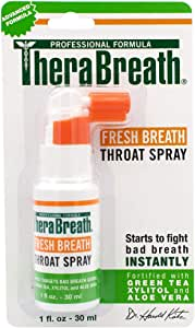 TheraBreath Dentist Formulated Fresh Breath Spray for On the Go, 1 Ounce Pack of 1