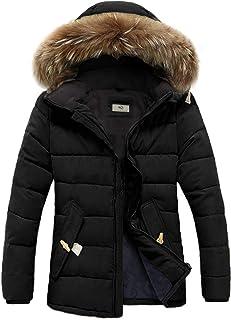 FOURSTEEDS 女式人造毛皮连帽保暖冬季外套派克羽绒服