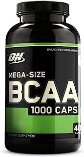 Optimum Nutrition BCAA 1000支链氨基酸胶囊,含有L-亮氨酸,L-异亮氨酸和L-缬氨酸,400粒(200份)