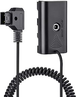 Fomito NP-F970 F750 F550 假电池带 DC 7.4V 至 D-TAP 适用于 V 型安装 BP 电池,相机监视器 Neewer F100 FEELWORLD FW568,LED 灯 CN160 CN216 YN300 II...