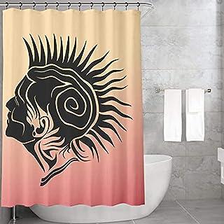 Bonamaison 浴垫和浴帘套装,多色,均码