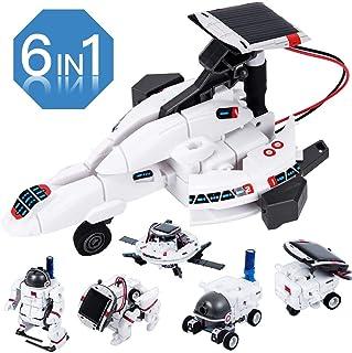 Tomons STEM Toys 6 合 1 太阳能机器人套装 学习科学构建玩具 教育科学套装 由太阳能机器人提供动力 适合 8 9 10 – 12 岁男孩女孩礼物