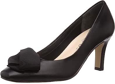 Merumo 浅口鞋 罗缎蝴蝶结图案方头浅口鞋 女士 7715