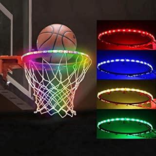 Picobee LED 篮球框灯,篮球框灯条防水,超亮条灯带 13 种灯光模式夜光,非常适合在夜间户外玩耍训练派对游戏