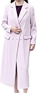 Nother 女式纯色西装领外套双排扣宽松过膝长外套