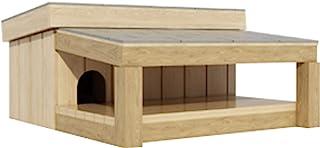 带覆盖门廊套的狗窝 DIY 宠物小狗户外收容所犬 小号