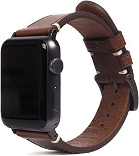 SLG Design Apple Watch 表带 40毫米 38毫米用 真皮 Italian Buttero Leather Strap 棕色 (苹果手表表带 意大利 Buttero 皮革) 意大利植鞣革 替换表带 series 5/4/3/...