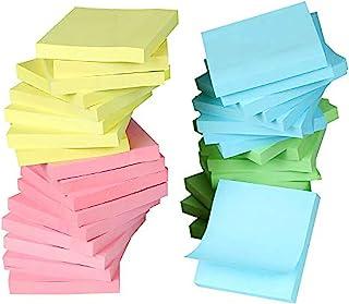 Super Sticky Notes 3x3,明亮彩色贴纸,非常适合写笔记和留言,40 包 40000 张,强力自粘便签,4 种颜色(黄色、*、蓝色、粉色)