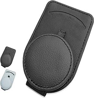 汽车遮阳太阳镜支架适用于汽车遮阳板配件通用汽车遮阳板太阳镜夹,用于存放眼镜和卡片(黑色)
