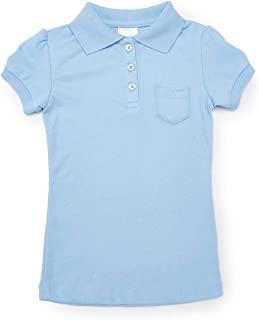 iGirldress 女孩校服 Polo 衫带口袋修身短袖