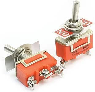 SPDT 3 针开/开 2 点拨动开关 AC 250V 15A E-TEN1121 2 件