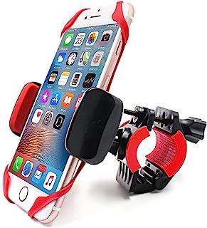 自行车和摩托车手机支架支架 - 360° 可旋转可调节自行车 GPS 装置支架,适用于 iPhone 11 Pro Max/X/XS MAX/XR/8/8 Plus 三星或其他智能手机