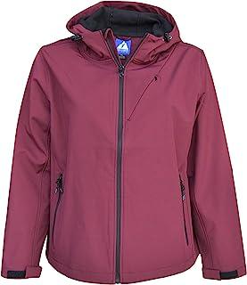 Snow Country 外套女式加大码 1X-6X 微绒软壳夹克外套