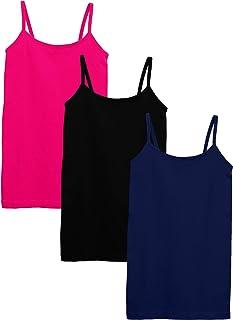 KIDPIK 女童背心 - 3 件装无缝 T 恤背心