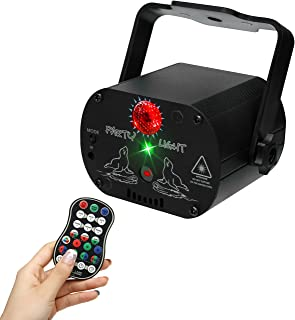 GuDin 投影仪灯 DJ 迪斯科舞台灯 LED 卡拉 OK 频闪表演舞台照明 带遥控器 适用于 KTV 派对 生日 婚礼 圣诞节 装饰灯
