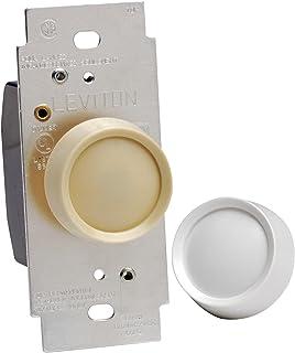 Leviton 6602-IW Trimatron Electro 机械非预设旋转式调光器,120 真空,600 瓦,1 P ,3 种方式,象牙色 需配变压器