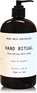 Muse Bath Apothecary 洗手液 - 芳香滋养洗手液,16 盎司,含天然精油 Fleur du Lavender 1-包每包 1 条