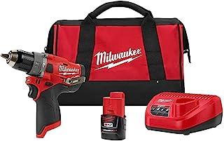Milwaukee 2504-21C M12 FUEL 1.27 厘米锤钻套件 带 CP 电池和充电器