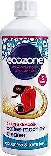 Ecozone 咖啡机清洁剂和除垢剂 500 毫升 - 每瓶 5 份