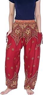 Lannaclothesdesign 女式收腰波西米亚光裤子 S M L XL XXL 码长裤
