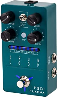 FLAMMA FS01 鼓机和短语环踏板吉他踏板混合模式 20 分钟循环容量121 节奏