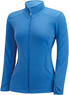 Adidas 高尔夫女士必备三条纹全拉链分层衬衫
