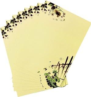 80 张文具书写纸,10.24 x 7.25 英寸(约 26.0 x 18.4 厘米)复古文具纸信纸书写纸,适用于办公室家庭学校婚礼邀请函、毕业信、谢谢备注(黄色)
